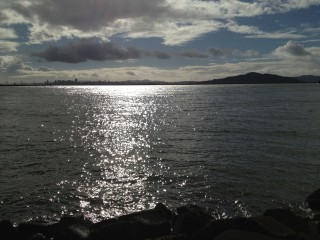 Sunshine reflecting on the Bay