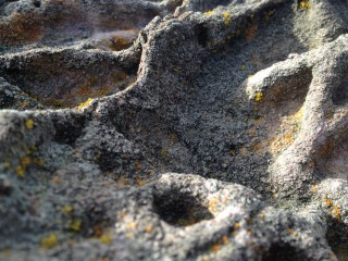 Close-up of weathered sandstone