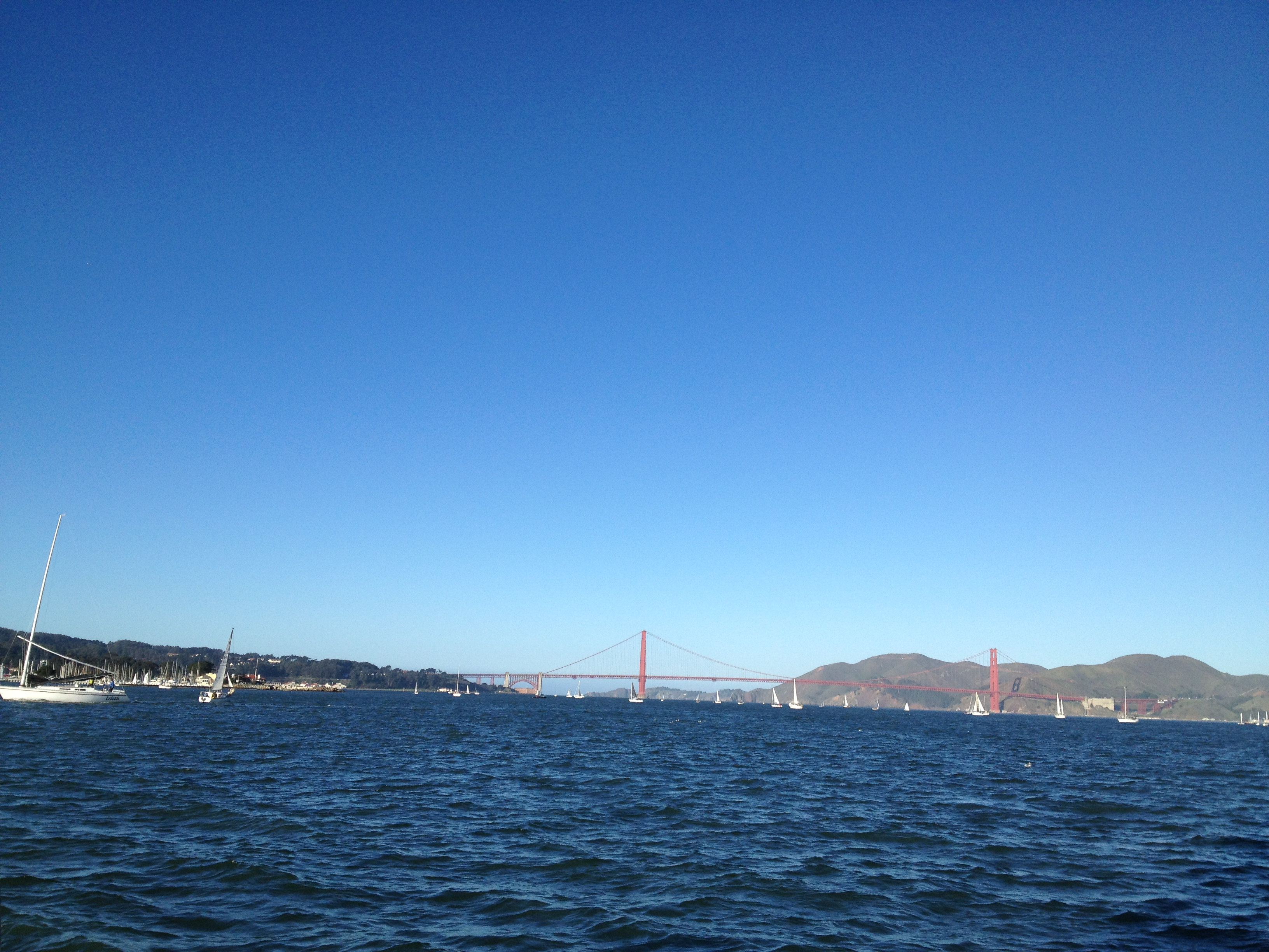 Getting closer to the Golden Gate Bridge