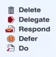 Delete Delegate Respond Defer Do